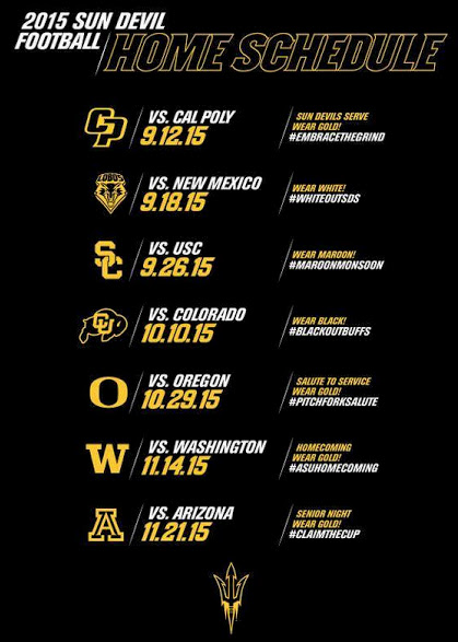 ASU Home football schedule