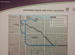 Tempe streetcar map